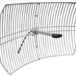 Las antenas parabólicas de rejilla se enfocan en señales de largo alcance en una dirección: estas son las mejores antenas para enlaces de punto a punto.