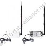 Kit de gabinetes con antena & cable extensor USB largo para adaptadores inalámbricos Alfa USB
