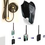 Opciones de soporte para adaptadores inalámbricos Alfa USB y soportes magnéticos para antena