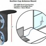 Soporte magnético de antena para la ventana