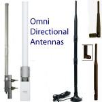 Las antenas omni-direccionales sólo deben ser usadas cuando la dirección del patrón de la señal es de múltiples puntos, es poco discernible, o cambiante (como en una embarcación).