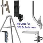 Soportes para equipo local del cliente (CPE) Ubiquiti, antenas, puentes y puntos de acceso