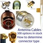 Tipos de conectores para cables de antena: compatibilidad con enchufes de antena; género de los conectores; enlaces a una gran selección de coletas para cables de antena.