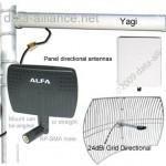 Antenas direccionales: un haz más estrecho se enfoca en la dirección de la señal para obtener un mayor alcance.