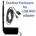 Cajas & kits relacionados para ajustar el adaptador USB WiFi en exteriores y lugares altos, en los que pueda recibir y enviar señales mucho más fuertes.