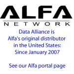 Data Alliance es el primer distribuidor de Alfa en las Américas y tenemos prácticamente todos los productos de red de Alfa en nuestra sede de Estados Unidos (Arizona).