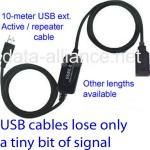 Cables USB: coloque su adaptador de WiFi en una posición elevada & en la línea del alcance para una señal de aún más larga distancia: los cables de USB pierden muy poca potencia de la señal WiFi