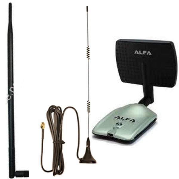 Actualizaciones de antena para adaptadores WiFi USB: antenas portátiles y soportes para adaptadores inalámbricos USB.