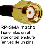 Cable de RP-SMA macho