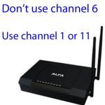 Es mejor no usar el canal 6: el mejor canal para su red es el canal 1 u 11.
