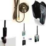 Soportes para adaptadores USB WiFi & sus antenas: extienda el alcance al instalarlo más alto y en el área de cobertura: soporte para ventana o monitor de portátil.