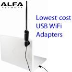 Adaptadores inalámbricos USB WiFi de bajo costo con gran desempeño: precios de menos de $17